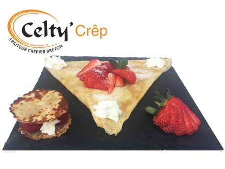 CeltyCrep crepe chantilly fraises