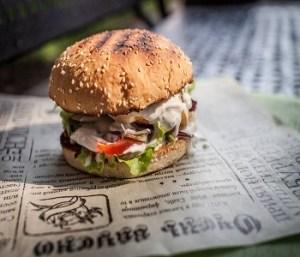 бургер из мраморной говядины just meals