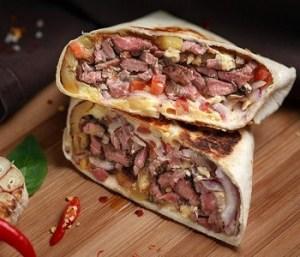 Врап стейк от фудтрака BroS BurritoS.