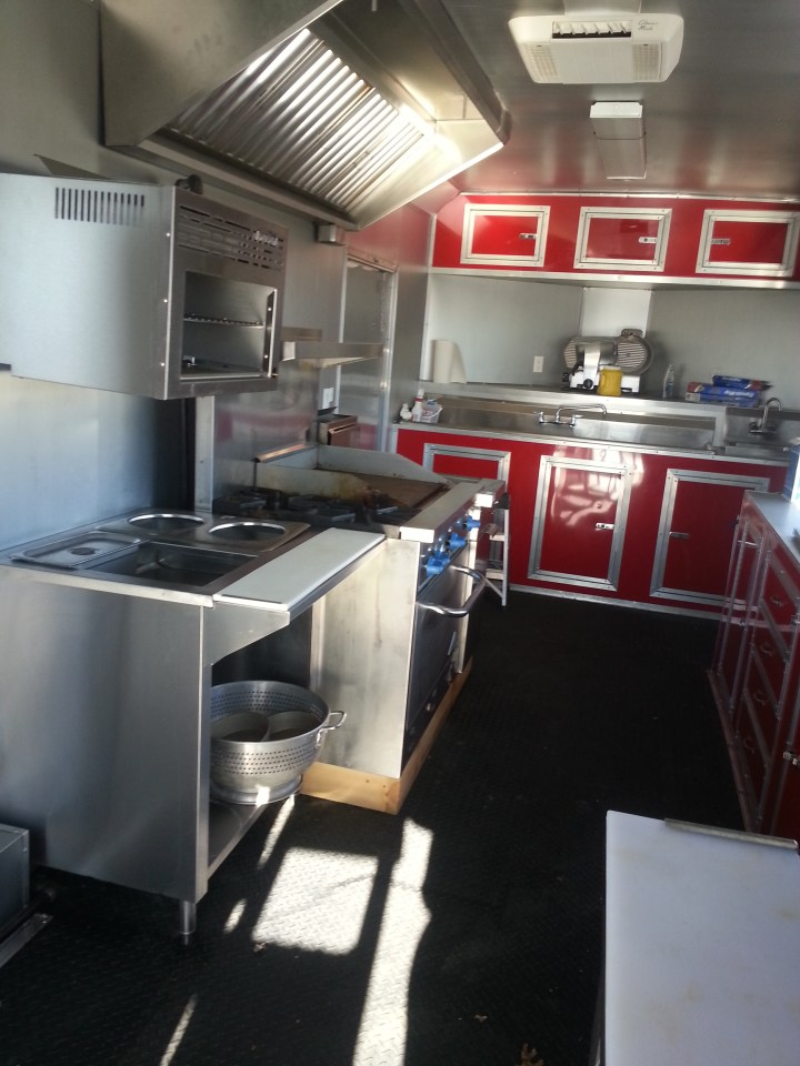 food trailer interior