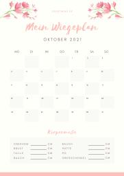 Wiegeplan Oktober 21