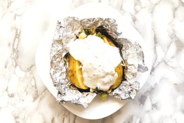 Gefüllte Ofenkartoffel