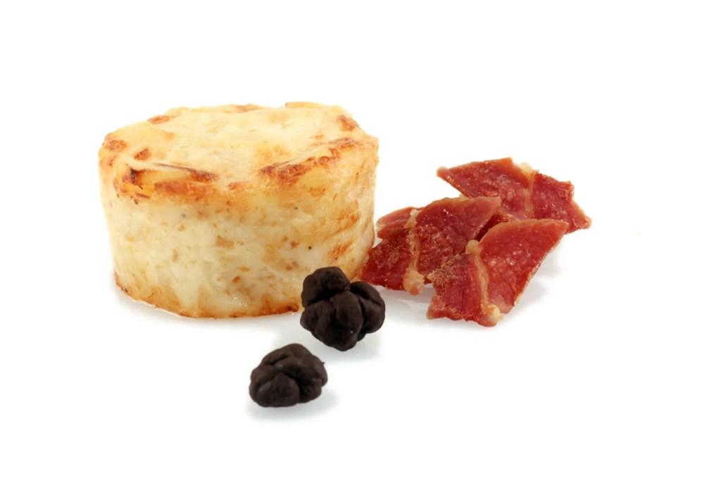 Gratén de patata, jamón y trufa negra Quinta Gama