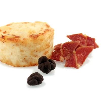 Gratén de patatas, jamón y trufa negra - foodVAC