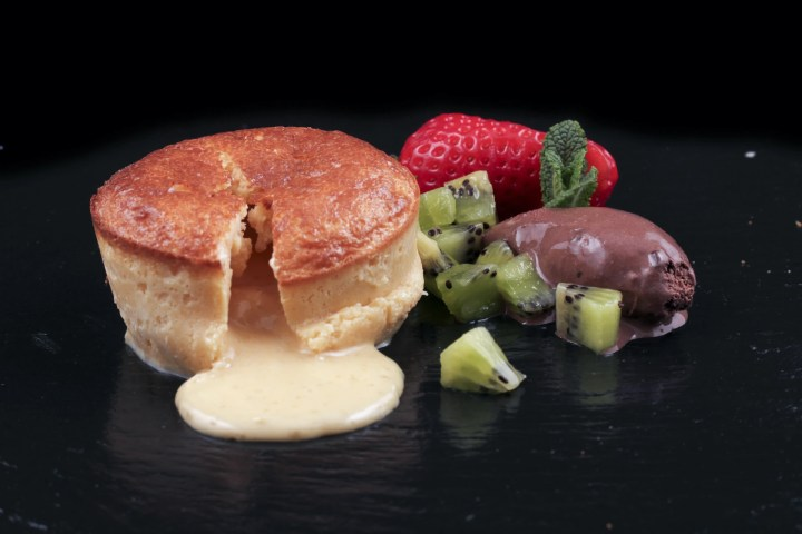 Couland de chocolate blanco para microondas sin gluten - Productos Quinta Gama para Alta Cocina - foodVAC