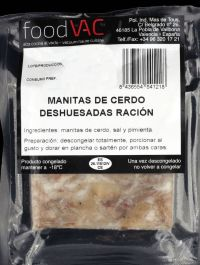 Manitas de cerdo deshuesadas foodVAC