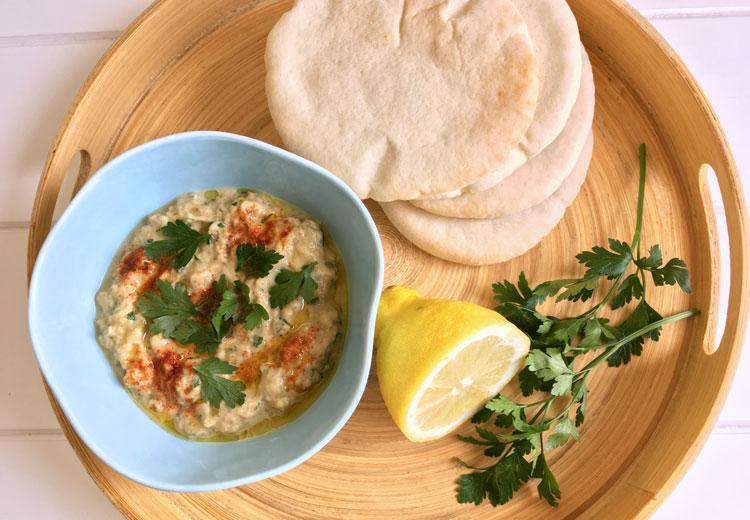 Baba ganoush, een heerlijke auberginedip