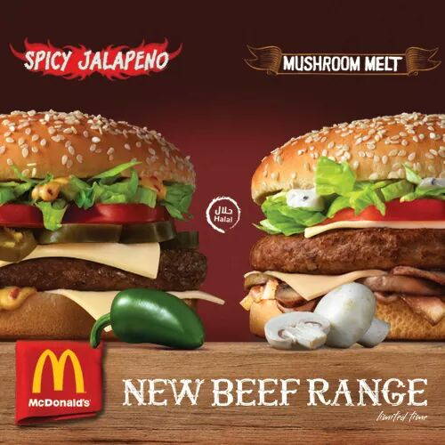 McDonalds New Beef treats – Mushroom melt and Spicy Jalapeño