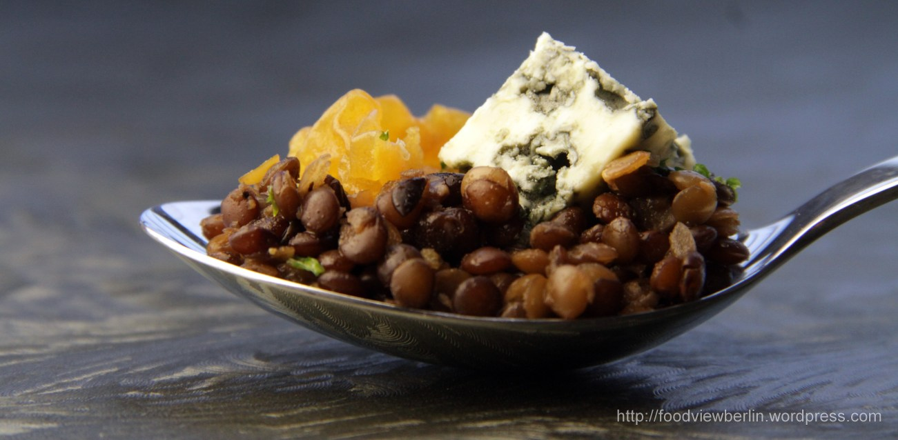 Lentils Risotto with Blue Cheese