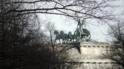 Horses - Quadriga on Brandenburg Gate, Berlin Mitte-Tiergarten, January 2013