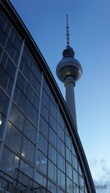 Big Blue - TV Tower and Alexanderplatz Station, Berlin-Mitte, February 2013