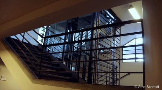 Elevator - Stairway at Former Jewish girl's school, Berlin Mitte, May 2013