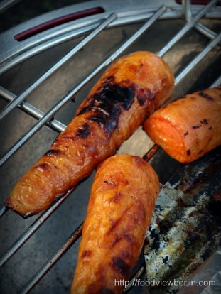 Grilled carrots for barbecue
