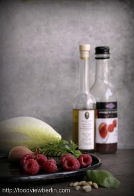 Truffled Belgian endive salad with raspberries
