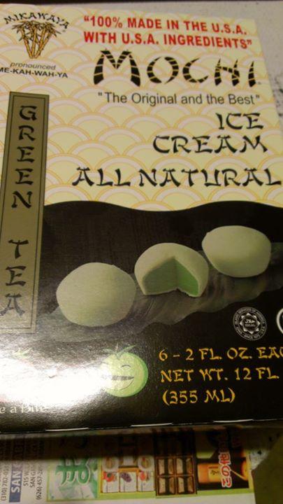 Mikawaya Green Tea Mochi Ice Cream