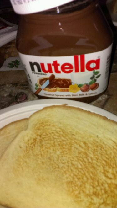 Nutella and toast- There's always a quick breakfast
