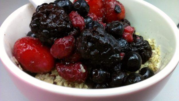 Raspberry, blueberry & strawberry oatmeal