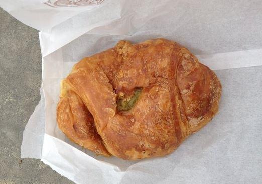 Jalapeño, ham & cheese croissant
