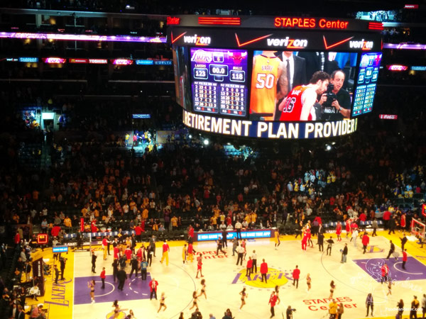 Live at the Laker's Game