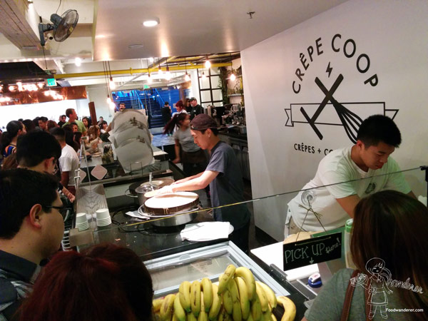 Crepe Coop Crepes being made