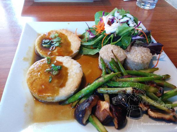 Kabuki's Tofu Steak Plate