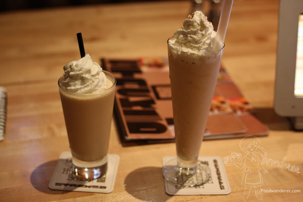 Jack O Lantern and Pumpkin shake