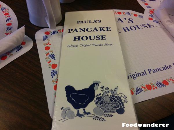 Paula's Pancake House Solvang CA Menu
