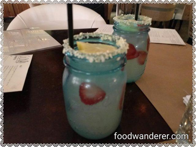 Strawberry Lemonade with pop rock rims