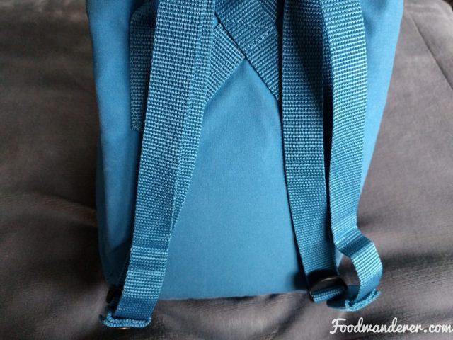 Kanken Lake Blue Mini straps