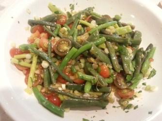 Bean and tomato salad