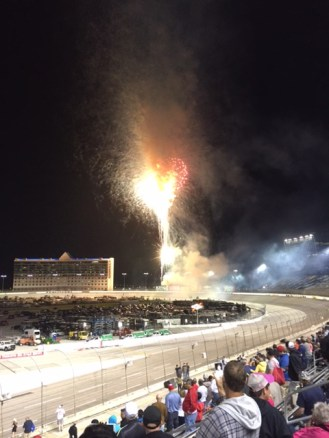 Fireworks after teh race