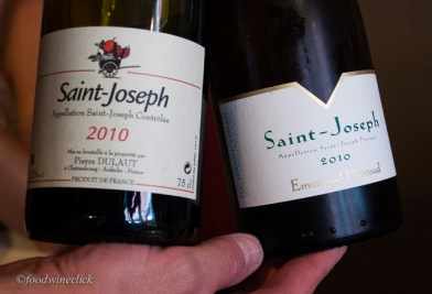 St. Joseph Rouge for me, Blanc for Julie