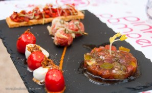 Tomatoes four ways, lovely 1st course