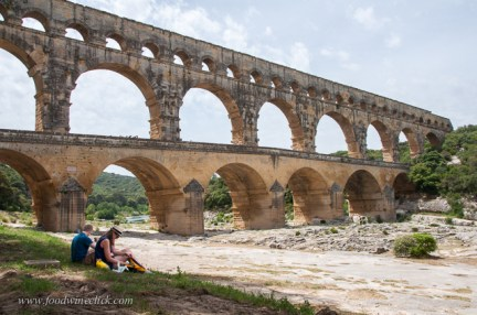 Pont du Gard, perfect spot for a picnic and a swim!