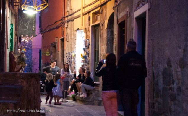 Corniglia is quiet and charming at night