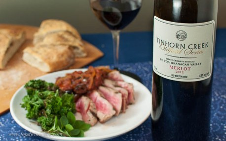 The Tinhorn needed a day to open up, and yes you can serve fish with Merlot!