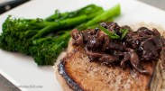 pork chop with mushroom sauce