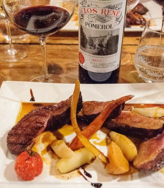 Seared duck breast with Pomerol
