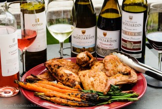Grill roasted rabbit with wines of Navarra