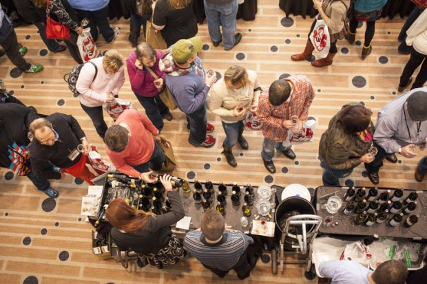 Exhibitor line at the Food and Wine Experience
