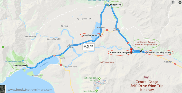 1. Gibbston Central Otago Selfdrive wine trip from Queenstown day 1