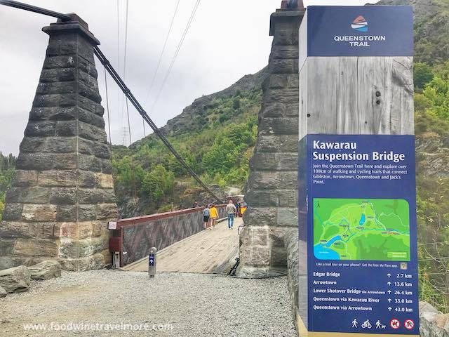 Kawarau Bridge Jumping site queenstown trail