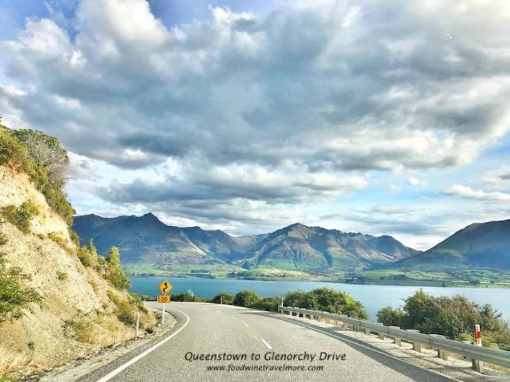 lake wakatipu queenstown to glenorchy scenic drive route