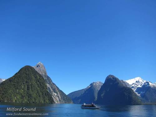 milford sound post card