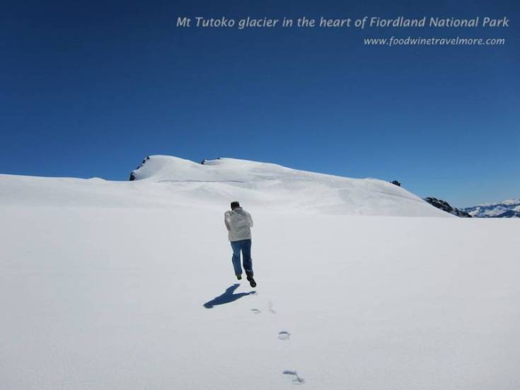 Mt Tutoko glacier in the heart of Fiordland National Park.