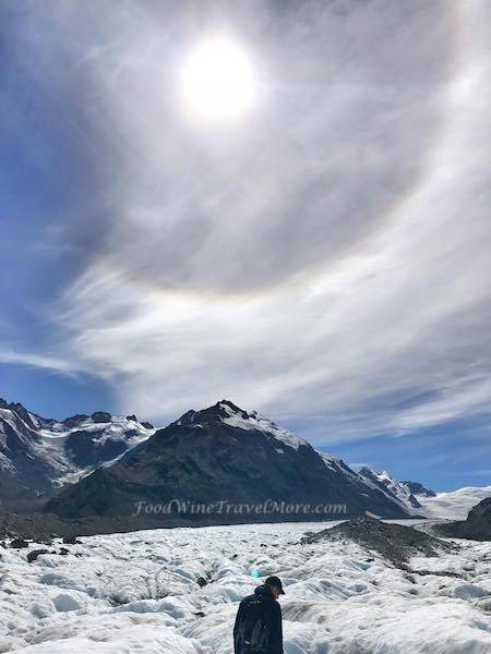 Sun Halo - Mt Cook New Zealand Helicopter HIking