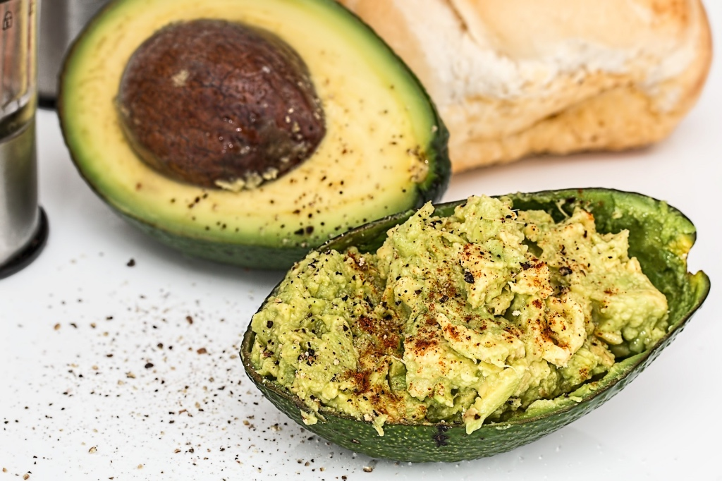 Half avocado with fresh mexican guacamole | Abril Cocina restaurant in Maplewood NJ | foodwithaview.com
