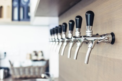 wine preservation system taps behind the bar