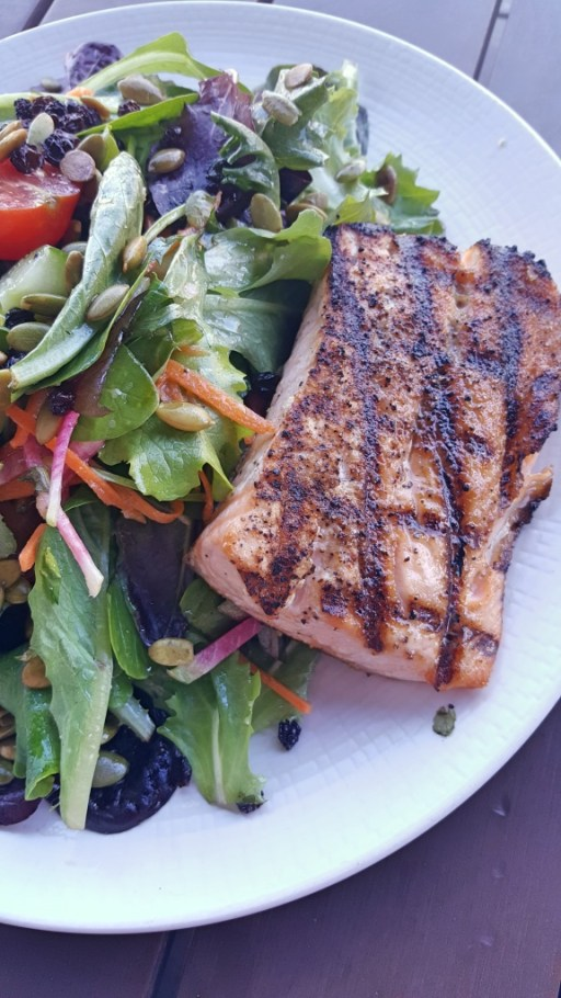 Grilled Salmon with Green Salad | Fare Restaurant Philadelphia | Philadelphia Restaurants on foodwithaview.com