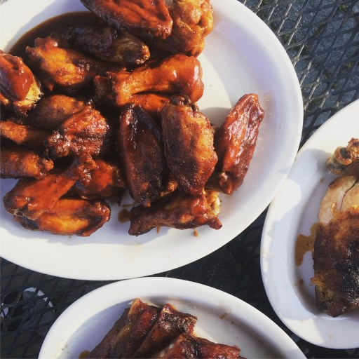 Barbecue wings chicken and ribs | Texas Smoke Restaurant | nj outdoor dining | foodwithaview.com